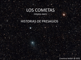Presentación sobre Cometas (F.Soldán)
