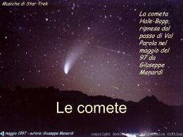 Le comete - IPSSAR Polo Valboite