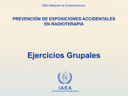 Ejercicios Grupales - International Atomic Energy Agency