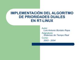 implementación del algoritmo de prioridades duales en rt - GTI-IA