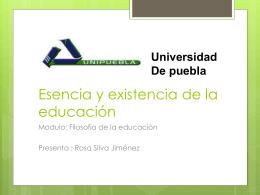 Esencia y existencia de la educacion