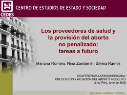 Tareas a futuro - International Consortium for Medical Abortion