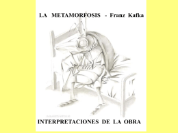 LA METAMORFOSIS – Interpretaciones