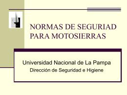 NORMAS DE SEGURIAD PARA MOTOSIERRAS