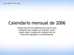 Calendario mensual de 2006 (Lun.
