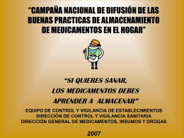 MEDICINA EQUIPO DE CONTROL Y VIGILANCIA DE