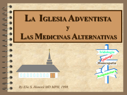 Medicinas Alternativas