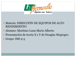 TEORIA X Y Y DE DOUGLAS MCGREGOR