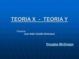 TEORIA Y Douglas McGregor