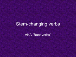 PP on stem-changing verbs (present tense)