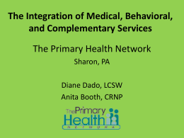 Integration of Medical/Behavioral Health & Complementary Medicine