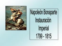Instauración Imperial Napoleónica