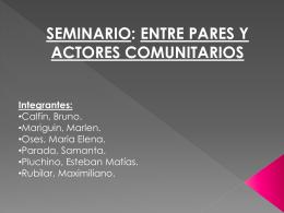 Escuela n° 293 Seminario Entre Pares 2010