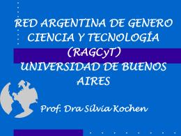 RED ARGENTINA DE GENERO, CIENCIA Y TECNICA