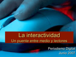 interactividad - Red