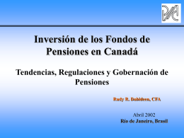 Tendencias de Inversión - World Pension Association