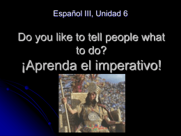Do you like to tell people what to do? ¡Aprenda el imperativo!