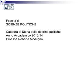 Diapositiva 1 - Scienze Politiche