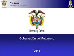 Presentación N° 1 - Gobernación de Putumayo