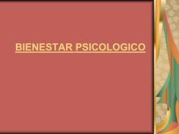 BIENESTAR PSICOLOGICO Factores protectores