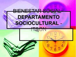 BIENESTAR SOCIAL - DEPARTAMENTO
