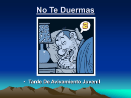27-No Te Duermas - Iglesia de Cristo Mahanaim