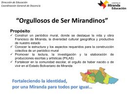 Orgullosos de Ser Mirandinos - Gobierno del estado Miranda