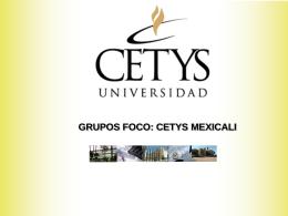 Presentacion FOCUS GROUP Mexicali 05 - WASC