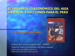 EL DESARROLLO ECONÓMICO DEL ASIA ORIENTAL Y