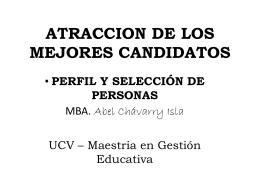 ATRACCION DE LOS MEJORES CANDIDATOS