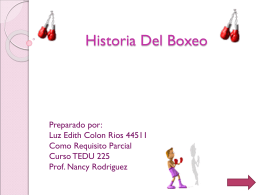 Historia del boxeo power point modulo 1