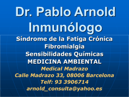 Dr. Pablo Arnold, Inmunólogo
