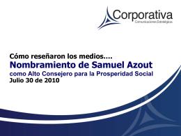 Nombramiento de Samuel Azout
