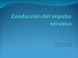 Conducción del impulso nervioso