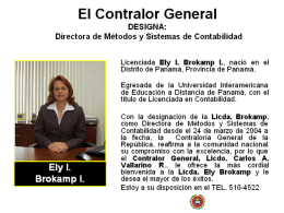 Directora de Métodos y Sistemas de Contabilidad