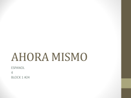 AHORA MISMO
