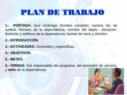 1) Presentación Plan de Trabajo