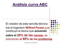 Análisis curva ABC