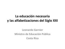 La educación y las alfabetizaciones del Siglo XXI