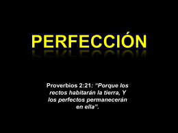 La Doctrina De La Perfección