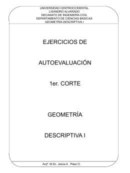Autoevaluación Primer Parcial - Universidad Centroccidental