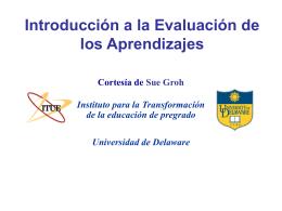 Introducción a la evaluación de los aprendizajes