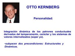 Clasificacion de trastornos de la personalidad de Otto Kernberg