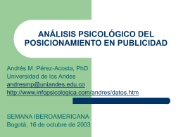 Análisis psicológico del posicionamiento en publicidad