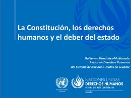 Deber estatal de garantía de los derechos humanos en Ecuador