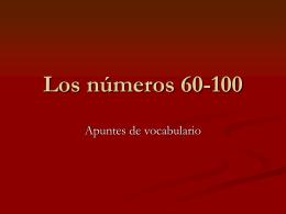 Los números 6-100
