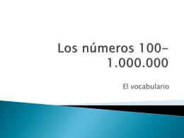 Los números 100-1.000.000