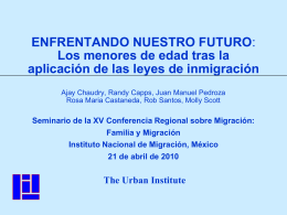 Jeffrey S. Passel Immigration Studies Program The Urban Institute