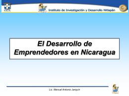 El desarrollo de emprendedores juveniles en Nicaragua