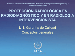 11. Garantía de Calidad - Radiation Protection of Patients